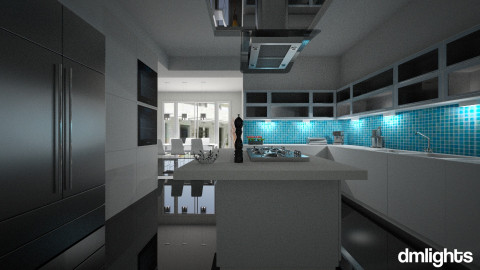 WhiteKitchenDining - Kitchen - by DMLights-user-1104016