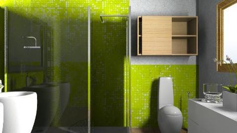 Apple mosaic tile - test - Modern - Bathroom - by ovchicha