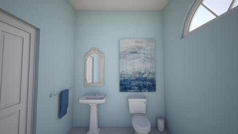 blue bathroom - Eclectic - Bathroom - by derssa