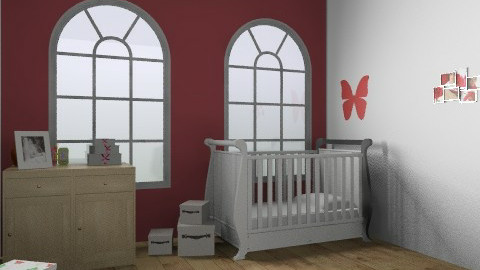 Red Bedroom - Country - Kids room - by FN27622
