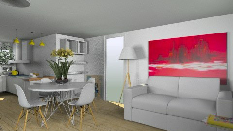 yellow living_noBlinds - Living room - by ValeGra