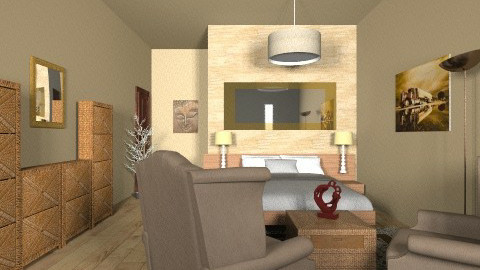 wood - Bedroom - by Naimegouveia