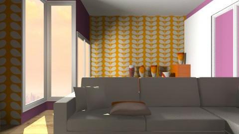 orange  - Living room - by vydrovamisulka1