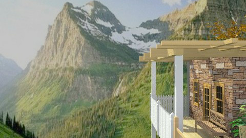 Mountains Overview - Rustic - Garden - by Bibiche