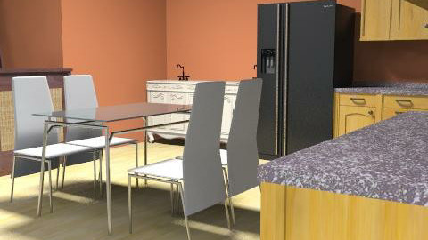 diningroom/kitchen - Rustic - Kitchen - by cliffyboy