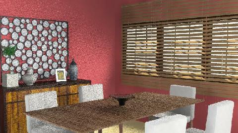 Red - Dining Room - by chloedaniella