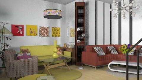 Audré - Retro - Living room - by SariJo