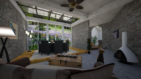 Stone house - Living room - by Wildflowers