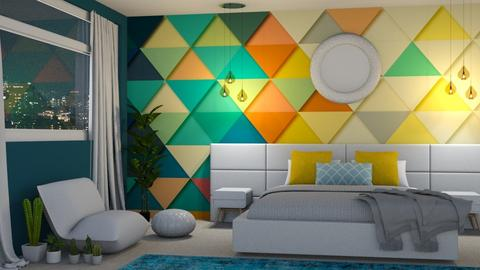 Geometric Patterns - Modern - Bedroom - by laurenpoisner
