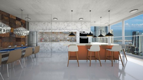 kitchen Marmol - Modern - Kitchen - by aletamahi