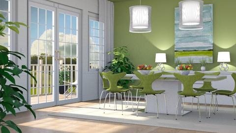 Green Dining - Dining room - by GraceKathryn