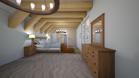 Haring Oak Master - Rustic - Bedroom - by JaidenLegg