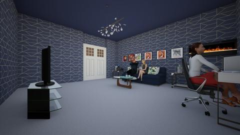 blue in love - Living room - by laneciathomas