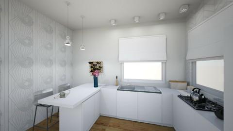 white apartment_kitchen - by annsal