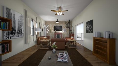 New York Loft - Living room - by WestVirginiaRebel