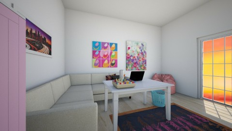 White rainbow - Kids room - by Roomstyler666