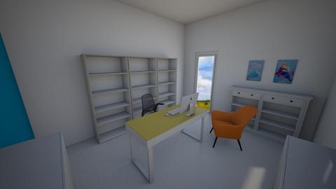 Nan Office 14x12 orange - by nancysmenard