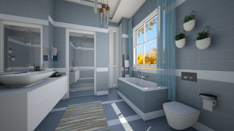 Blue - Bathroom - by Roberta Coelho