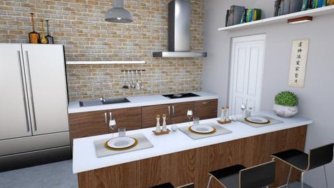 Apto 0791 - Modern - Kitchen - by fashionistafalida