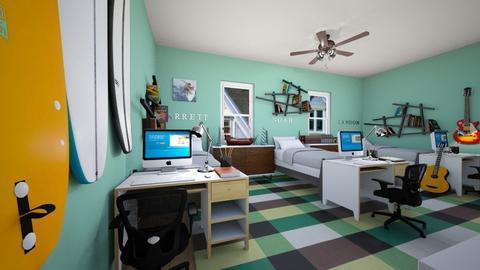 Triplets Bedroom - Bedroom - by SammyJPili