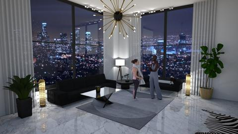 Penthouse - Living room - by Louise Hedlund