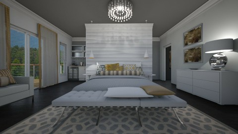 White Master Bedroom - by myideas interiors