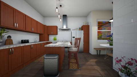 Chocolate Colored Kitchen - Rustic - Kitchen - by millerfam