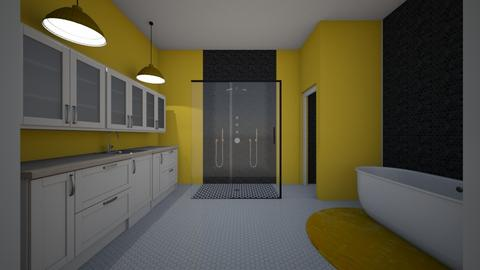 yellow - Bathroom - by Addie Grace