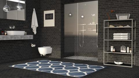 B702 Bricks - Minimal - Bathroom - by millerfam
