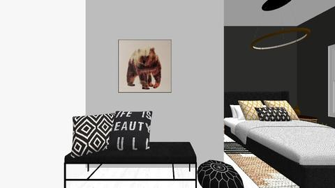 Gold and Black Bedroom - by Margaret Kilgallon
