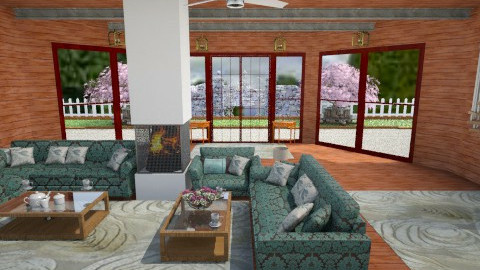Country Barn - Country - Living room - by AshiraLevana
