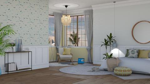 Yellow beach - Bedroom - by NEVERQUITDESIGNIT