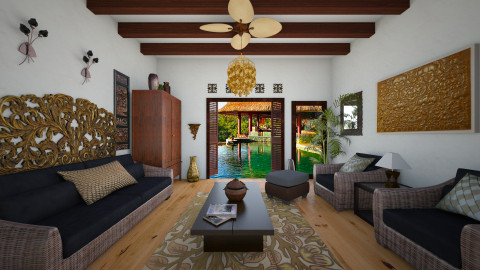 tRopical retreat - Living room - by Nor Hasniza Md Jani