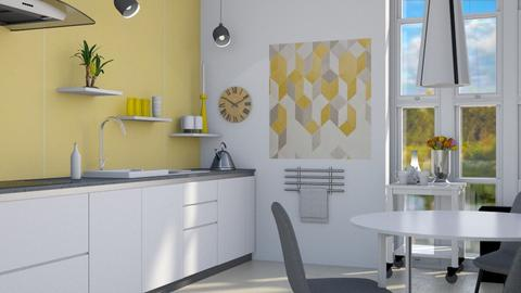 Scandi yellow - Modern - Kitchen - by augustmoon