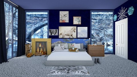 Winter Valley  - Country - Bedroom - by InteriorDesigner111