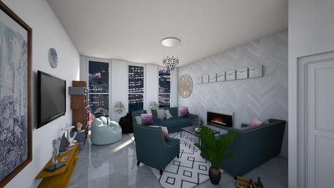 Template room 5 - Living room - by Domenica Molina