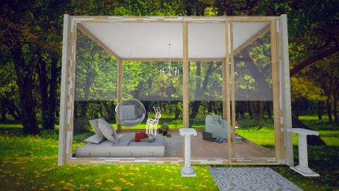 Glasshouse_in forest - Rustic - Bedroom - by em01