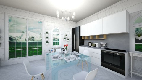 Dining and Kitchen - Dining room - by Recyn