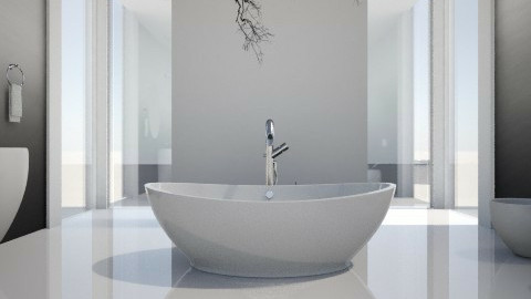 minimal bath - Bathroom - by XValidze