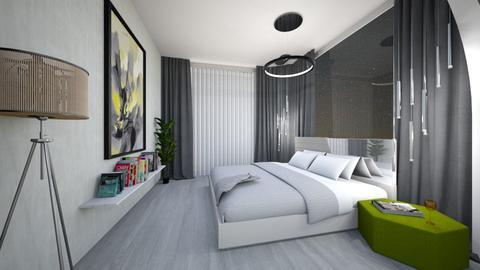 dormitor dressing birou - Bedroom - by floriciulei