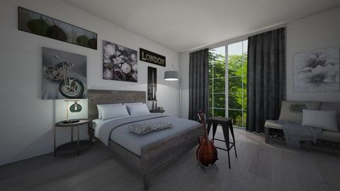 modern grey - Modern - Bedroom - by Rachael Mitai