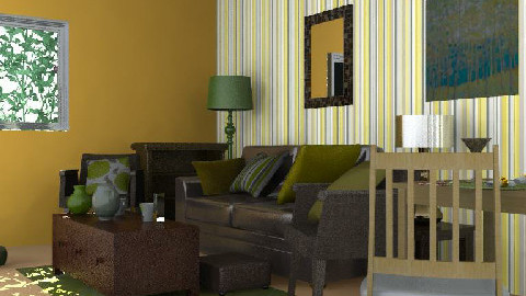 Irene's Brown and Lime Lounge - Living room - by AustinPowers