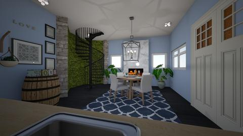 Garden Wall Mansion - Living room - by ellarowe224