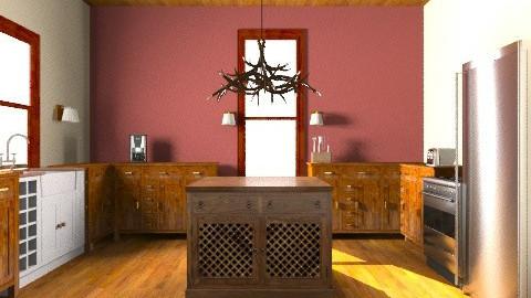 rustic kitchen  - Rustic - Kitchen - by brittanyrisk1998