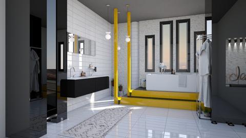 yellow bath - by cuneyt oznur