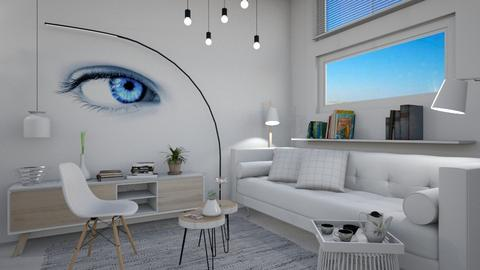 M_ Blue eye - Modern - Living room - by milyca8