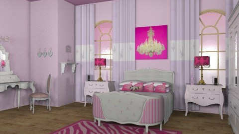 pink paradise - Glamour - Bedroom - by trees designs