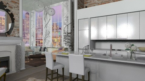 Stylish - Eclectic - Kitchen - by BerBer