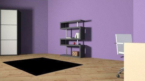 Purple - Minimal - Bedroom - by lunnahermione