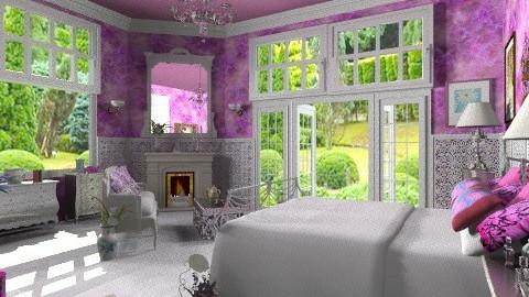 Fushia and silver - Classic - Bedroom - by Bibiche